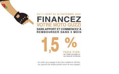 Promotion Moto-Guzzi : TAEG fixe 1.5%